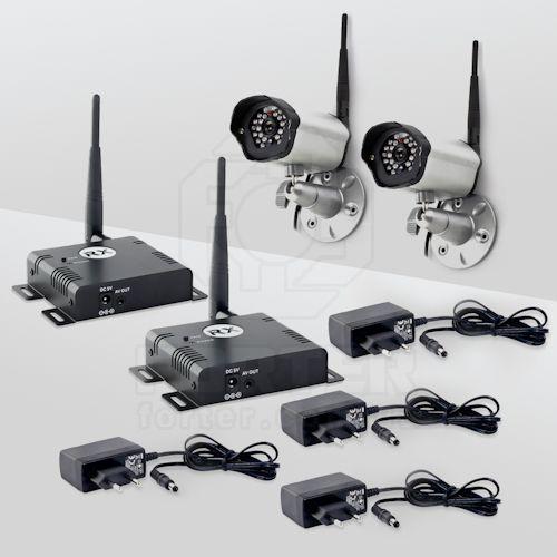 Комплект наружного GSM видеонаблюдения на 2 камеры