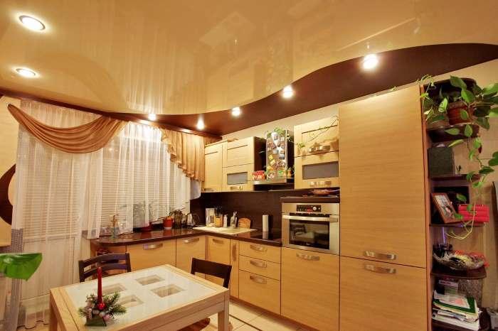 натяжной потолок на кух