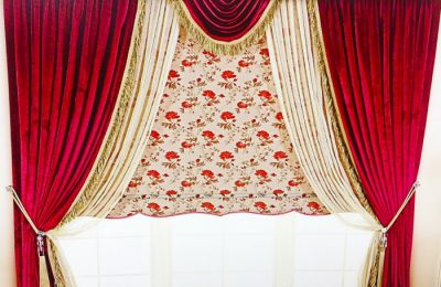 красные шторы 1 19