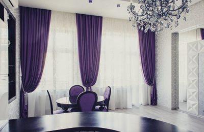 фиолетовые шторы 2 3