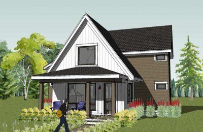 Дизайн дачного дома 60