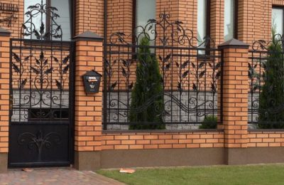 Забор для частного дома 8 5