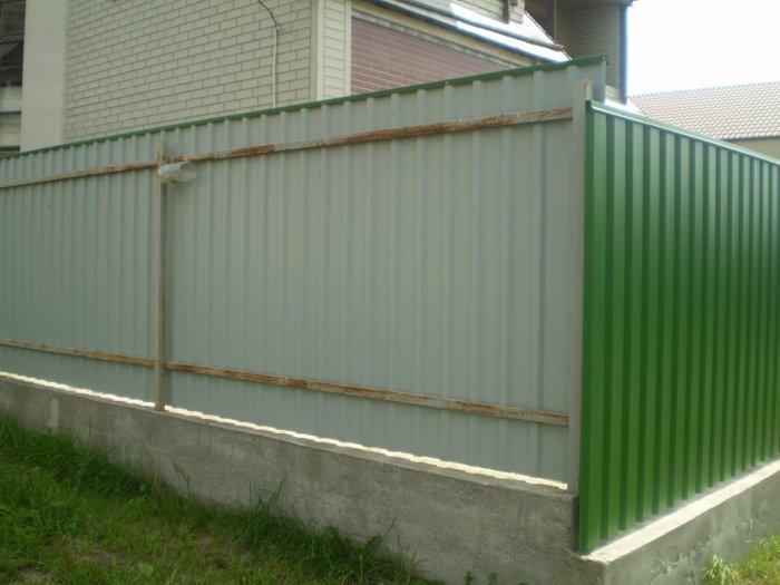 Забор из профнастила (11)