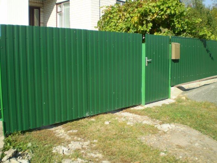Забор из профнастила (12)