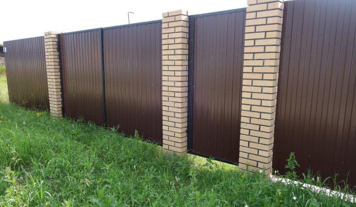 Забор из профнастила (19)
