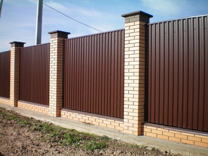 Забор из профнастила (30)