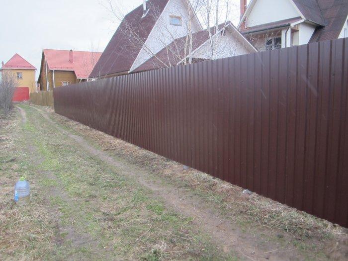 Забор из профнастила (31)
