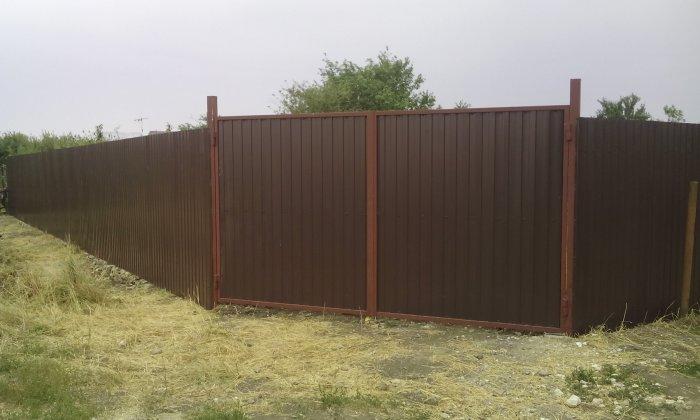 Забор из профнастила (32)