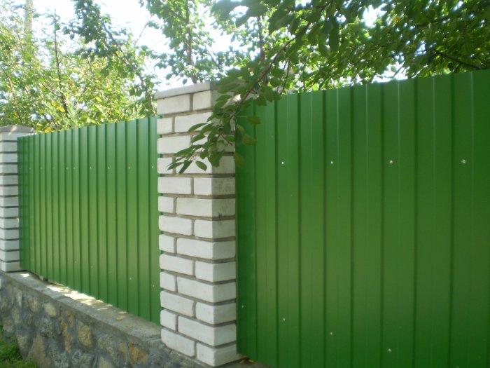 Забор из профнастила (33)