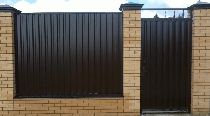Забор из профнастила (4)