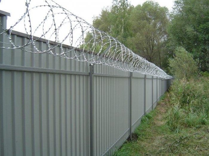 Забор из профнастила (40)