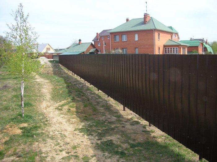 Забор из профнастила (41)
