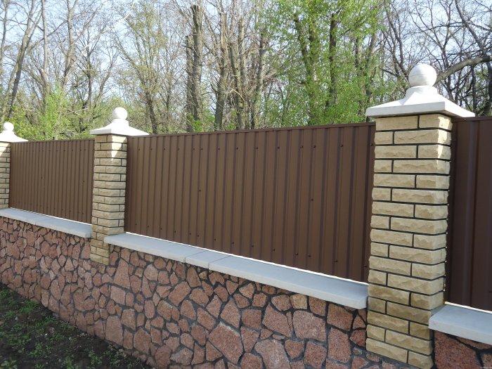 Забор из профнастила (5)