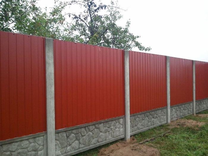 Забор из профнастила (53)