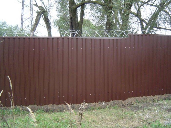 Забор из профнастила (54)