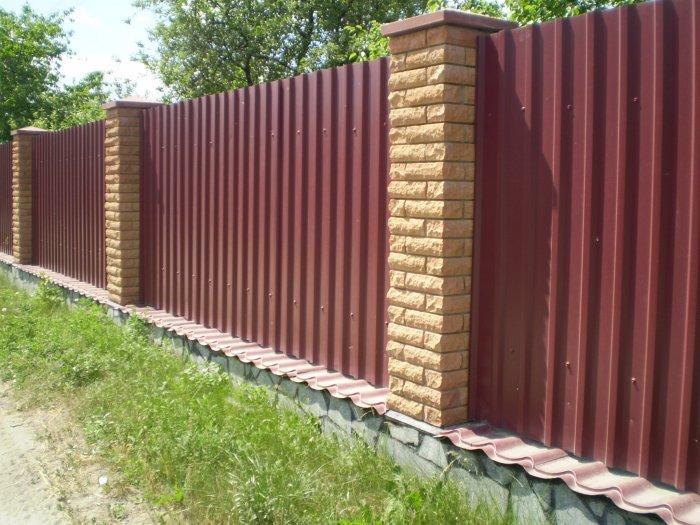 Забор из профнастила (56)
