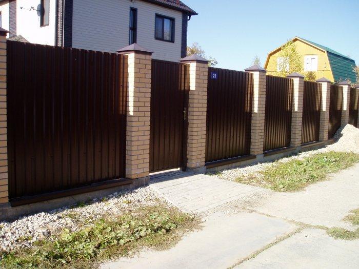 Забор из профнастила (59)