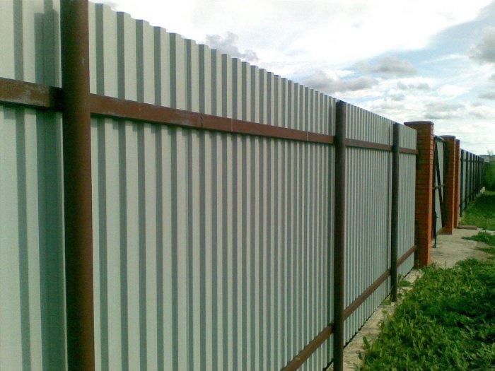 Забор из профнастила (8)