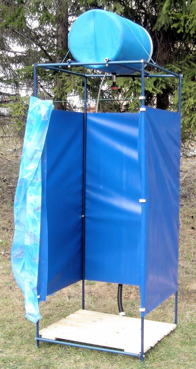 Как сделать летний душ на даче (17)