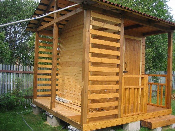 Как сделать летний душ на даче (51)