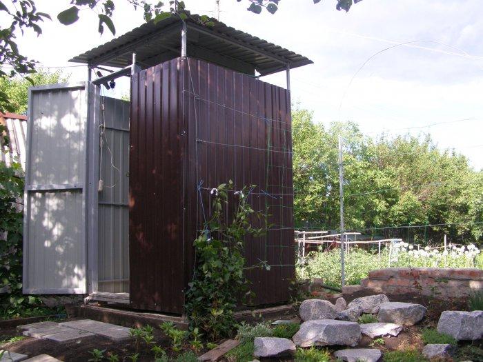 Как сделать летний душ на даче (54)