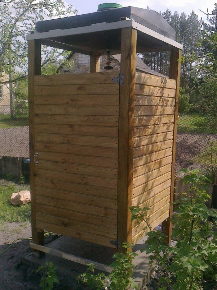 Как сделать летний душ на даче (6)