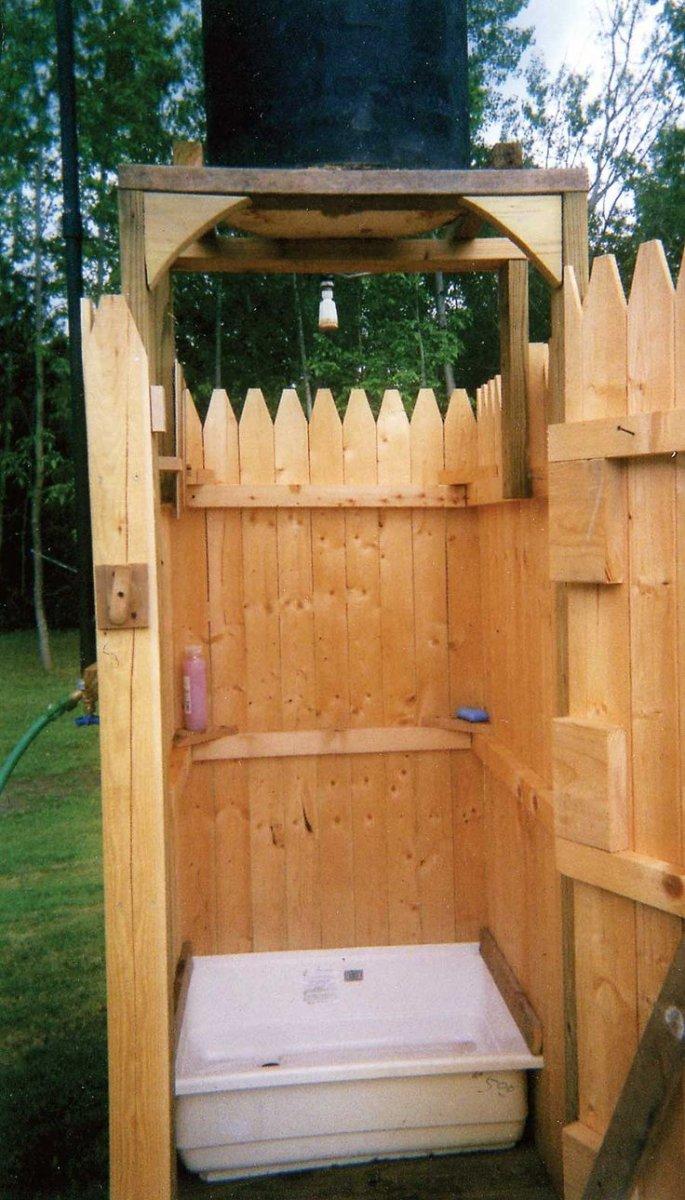Как сделать летний душ на даче (8)