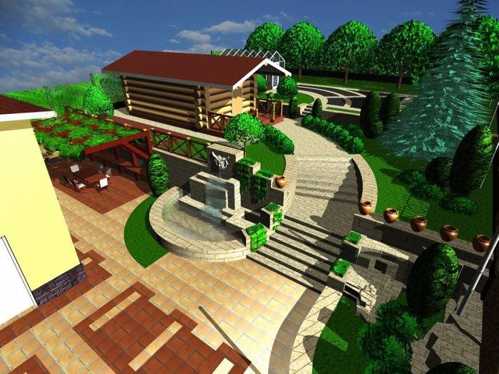 Ландшафтный дизайн дачного участка (64)