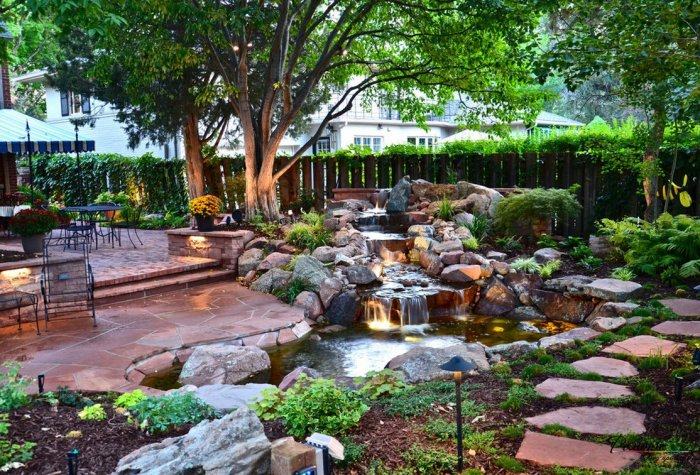Обустройство двора частного дома (17)