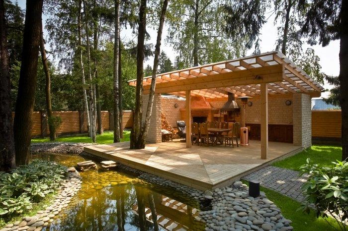 Обустройство двора частного дома (2)