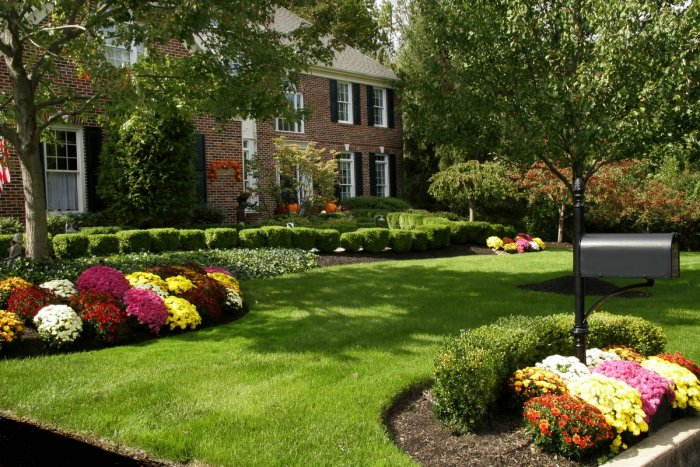Обустройство двора частного дома (25)