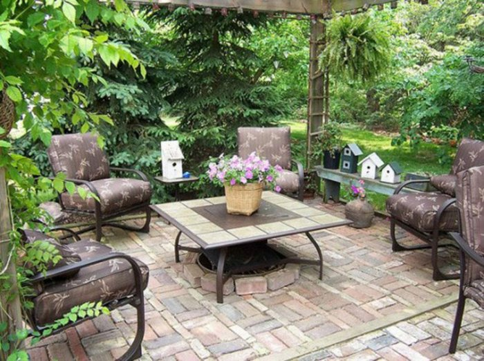 Обустройство двора частного дома (5)