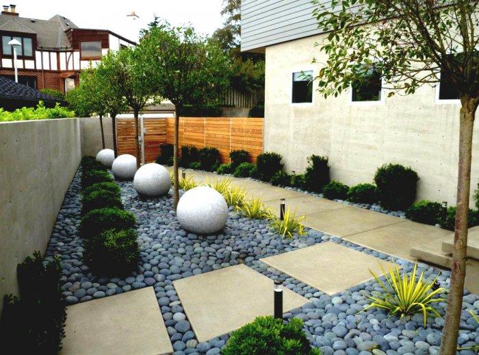 Обустройство двора частного дома (6)