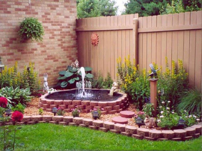 Обустройство двора частного дома (68)