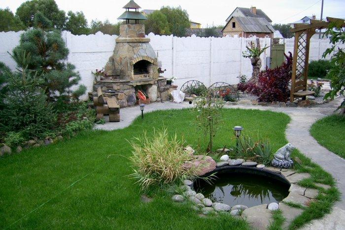 Обустройство двора частного дома (7)