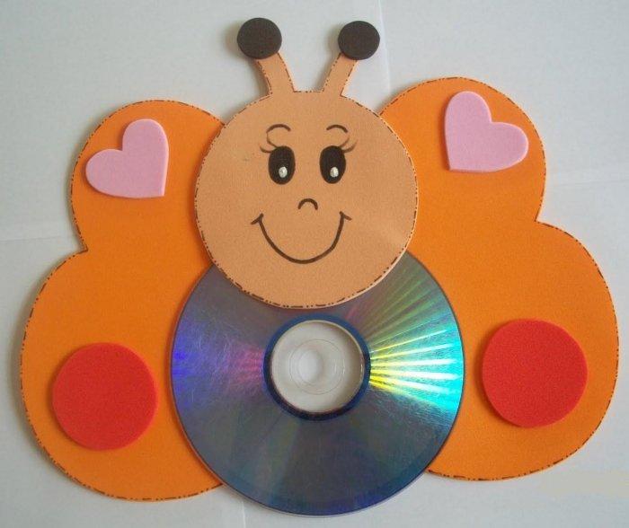 Поделки из дисков (12)