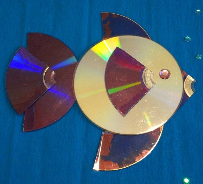Поделки из дисков (22)