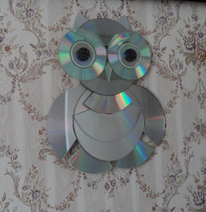 Поделки из дисков (24)