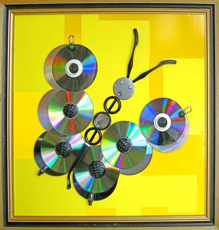 Поделки из дисков (31)