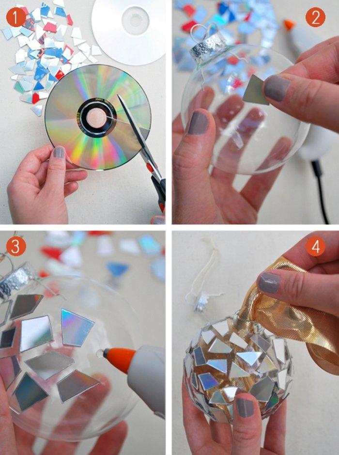 Поделки из дисков (35)