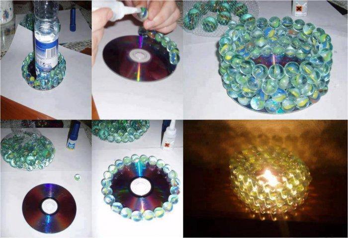 Поделки из дисков (46)