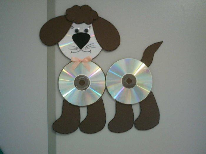Поделки из дисков (47)