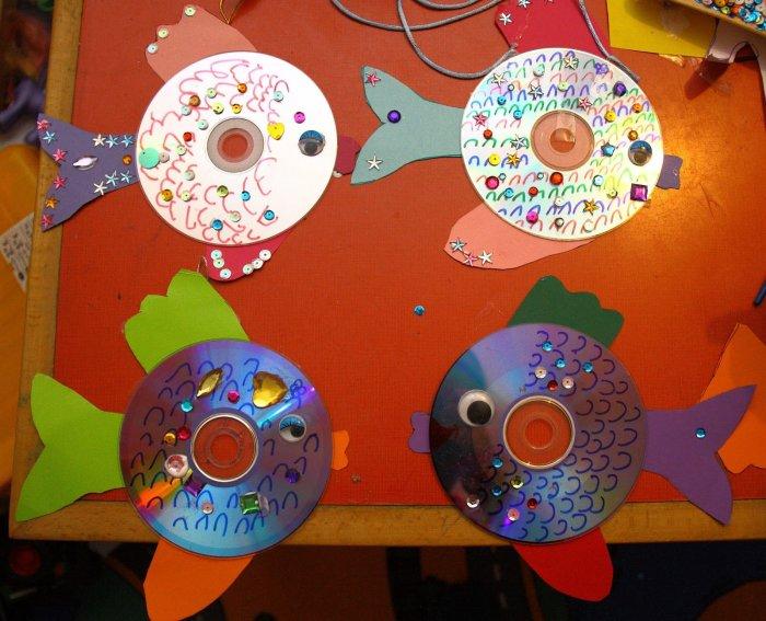 Поделки из дисков (51)