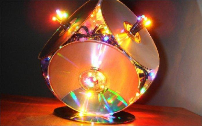 Поделки из дисков (70)