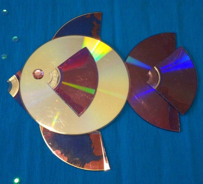 Поделки из дисков (8)