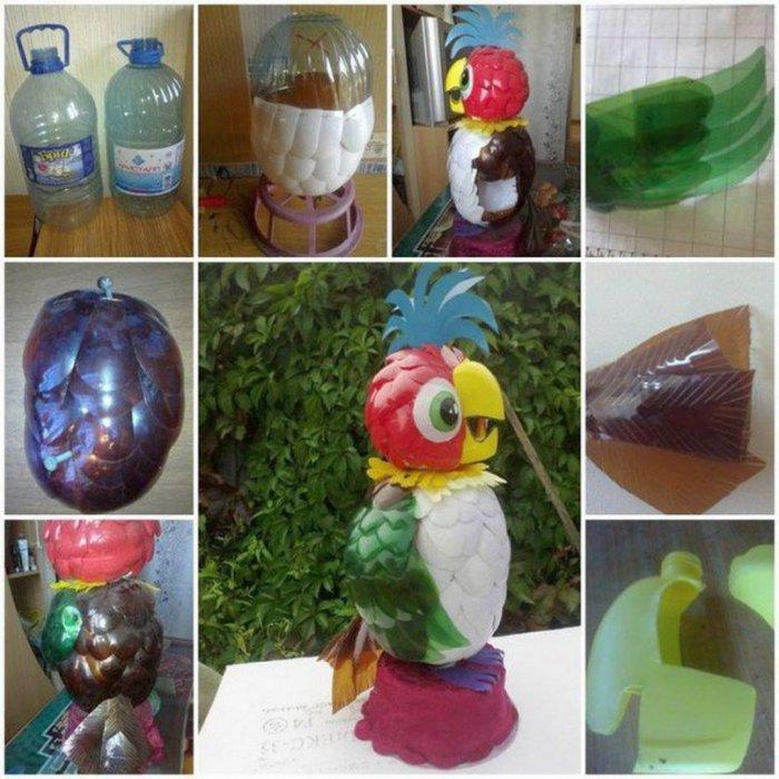 Поделки из пластиковых бутылок для дома и дачи (15)