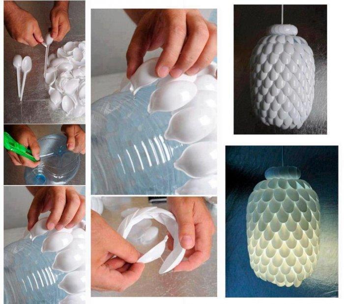 Поделки из пластиковых бутылок для дома и дачи (16)