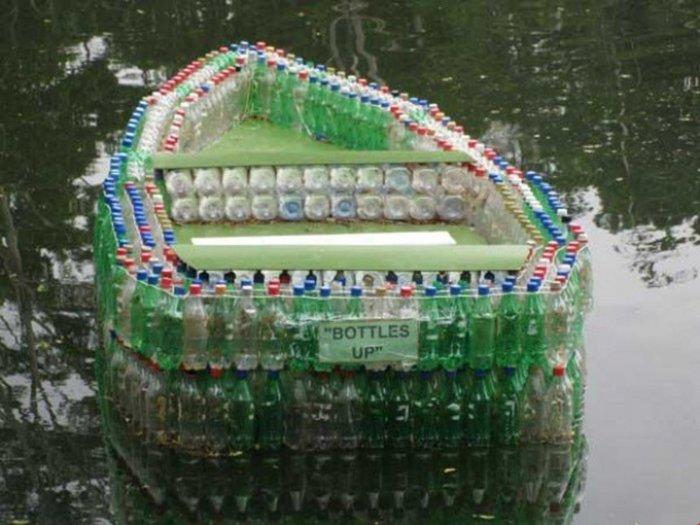 Поделки из пластиковых бутылок для дома и дачи (27)