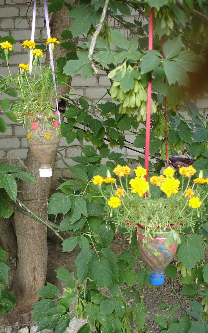 Поделки из пластиковых бутылок для дома и дачи (6)