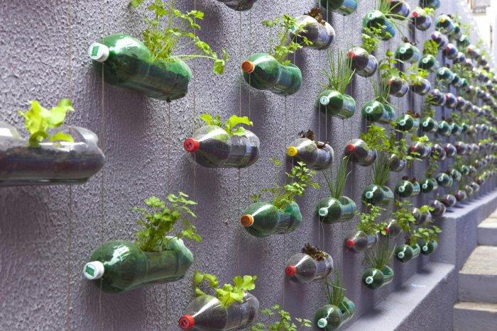 Поделки из пластиковых бутылок для дома и дачи (8)